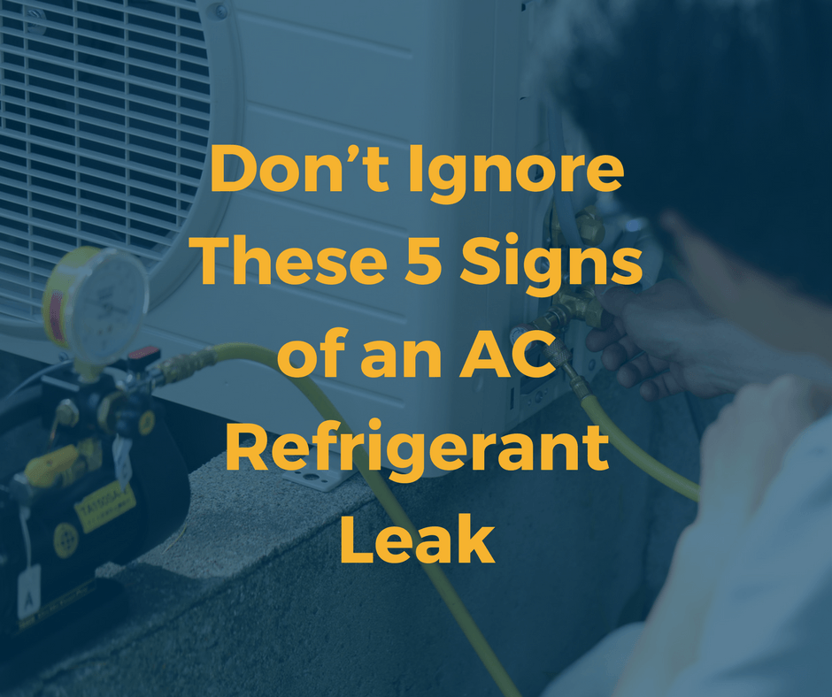 Signs That Your AC Refrigerant is Leaking